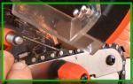 Виды приспособлений для заточки бензопильных цепей