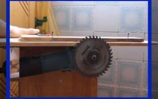 Циркулярка из болгарки: технология изготовления электропилы
