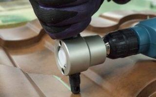 Насадка на дрель для резки металла: характеристика приспособления