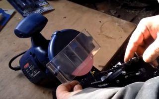 Устройство и разновидности станков для заточки цепей бензопил