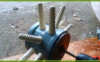 Перосъемная насадка на дрель: виды и особенности применения